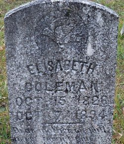 Elizabeth Bettie <i>Matlock</i> Coleman