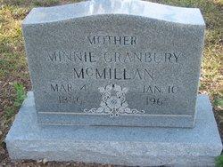 Minnie <i>Granbury</i> McMillan