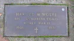 PFC Harold William Wolfe