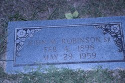 John M. Robinson, Sr