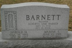 Alberta Sam <i>Barnett</i> Barker