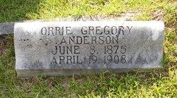 Margaret Orra Orrie <i>Gregory</i> Anderson