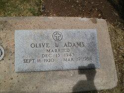 Olive L Adams