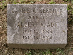 Carrie A <i>Beecher</i> Adt