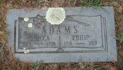 Rebecca Nancy <i>Williams</i> Adams
