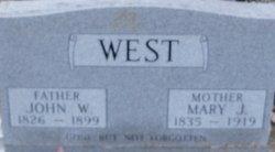 Mary Jane <i>Weeks</i> West