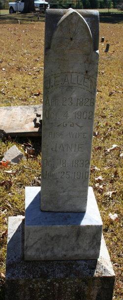 Patience Ann Jane Janie <i>Fulgham</i> Allen