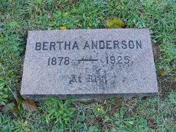 Bertha Annie <i>Juhl</i> Anderson
