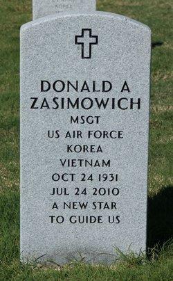 Sgt Donald Archie Zasimowich