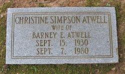 Christine <i>Simpson</i> Atwell
