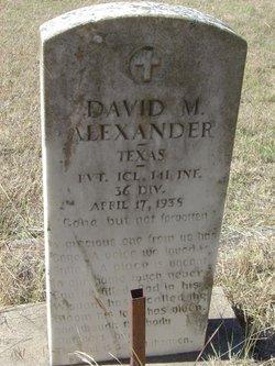 PFC David M. Alexander