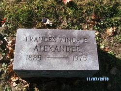 Frances <i>Wingate</i> Alexander