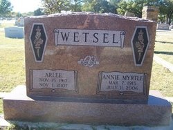 Annie Myrtle <i>Huff</i> Wetsel