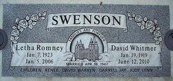 Letha <i>Romney</i> Swenson