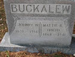 Mattie B <i>Rich</i> Buckalew