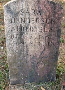 Sarah Lucenda <i>Henderson</i> Albertson