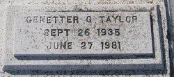 Genetter G. Taylor