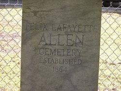 Felix Allen Cemetery