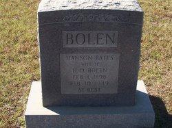 Hanson <i>Bates</i> Bolen
