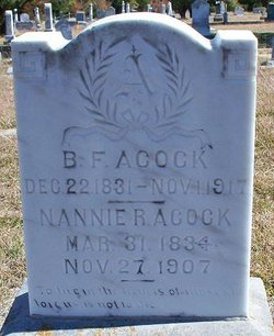 Nancy Rachel Nannie <i>Pendleton</i> Acock