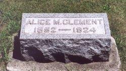Alice M Clement