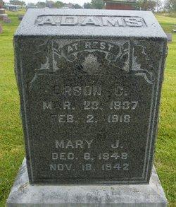 Mary Jane <i>Griffin</i> Adams
