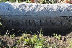 Bertha <i>Schwemm</i> Lange
