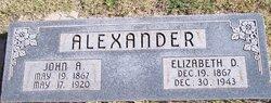 John A Alexander
