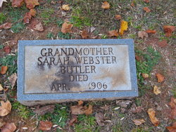Sarah <i>Webster</i> Butler