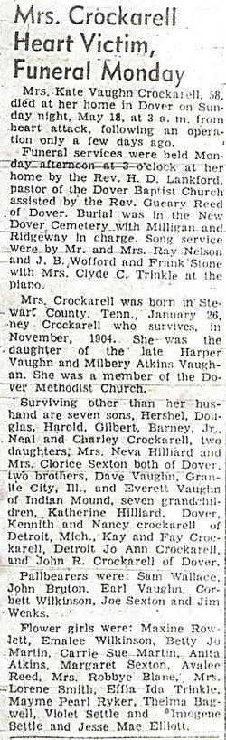 Kate <i>Vaughan</i> Crockarell