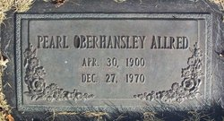Edna Pearl <i>Oberhansley</i> Allred