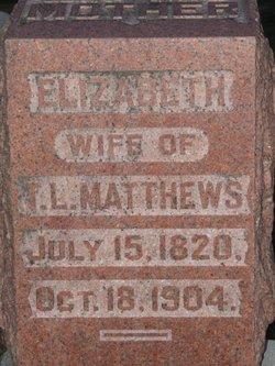 Elizabeth <i>Puterbaugh</i> Matthews