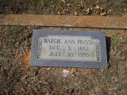 Wardie Ann <i>Reynolds</i> Pinson