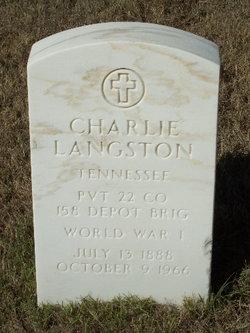 Pvt Charlie Langston