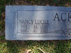 Nancy Lucile <i>Horton</i> Acker