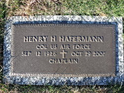 Rev Henry Holtermann Hafermann