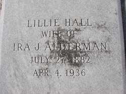 Lillie <i>Hall</i> Alderman