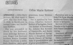 Orbie Marie <i>Hawkins</i> Kettner