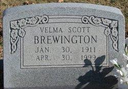 Velma <i>Warren</i> Brewington Scott