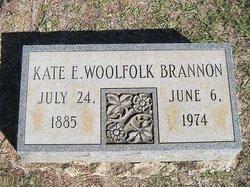 Kate E <i>Woolfolk</i> Brannon