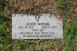 Alice <i>Wong</i> King