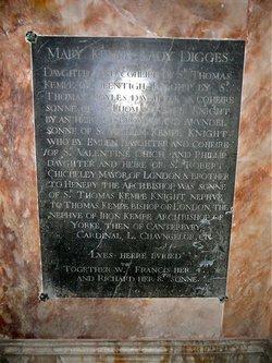 Lady Mary <i>Kempe</i> Digges