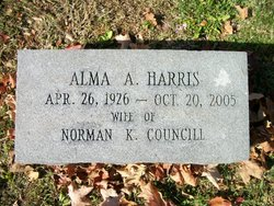 Alma A <i>Harris</i> Councill