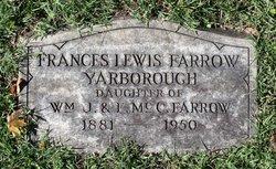 Frances Lewis <i>Farrow</i> Yarborough
