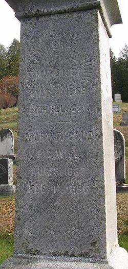 Mary F. <i>Cole</i> Young