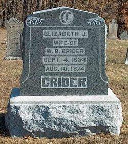 Elizabeth Jane <i>Butler</i> Crider