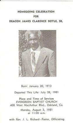 Deacon James Clarence Doyle