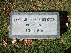 Jane <i>Miliner</i> Anderson