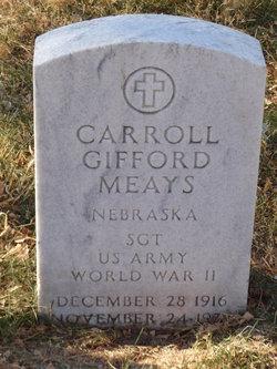 Sgt Carroll Gifford Meays