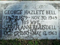 Sarah Ann <i>Blaisdell</i> Bell